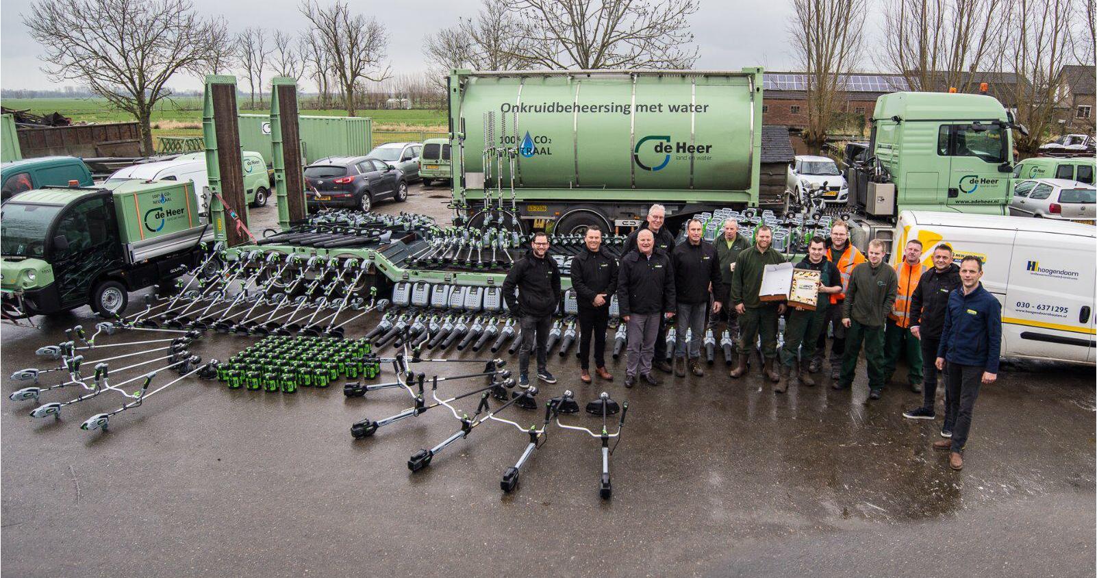 Ruim 400 EGO machines geleverd aan De Heer Land en Water Polsbroek