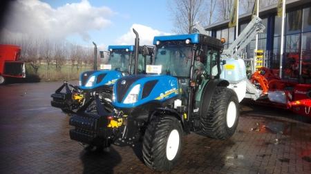2 New Holland T4.110F tractoren geleverd aan Jos Scholman