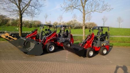 3 Weidemann shovels afgeleverd bij De Ruijter Polsbroek