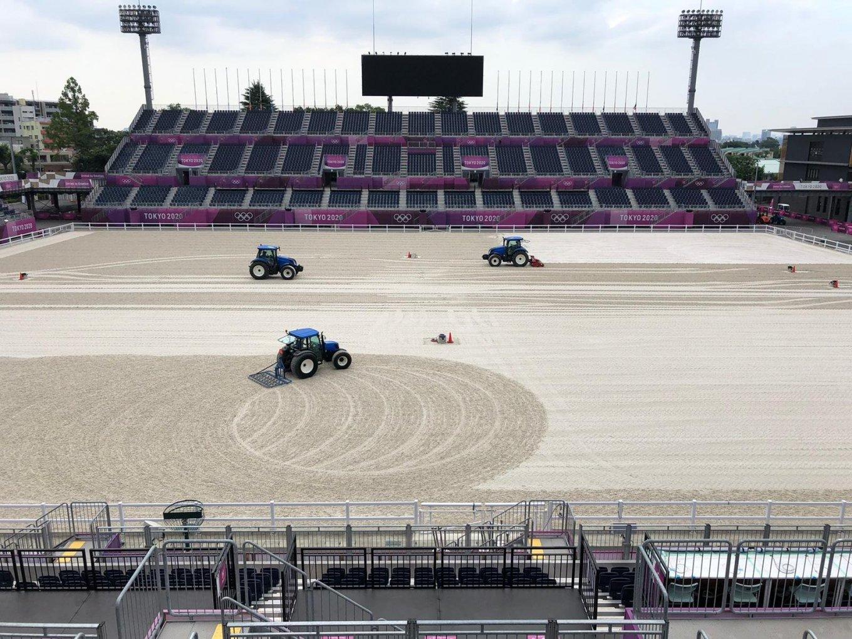 New Holland tractoren aan het werk op de Olympische Spelen